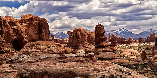 Arches Formations - Arches National Park, Utah by Kathy Weaver