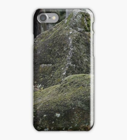 ROCKS WITH LICHEN AND MOSS iPhone Case/Skin