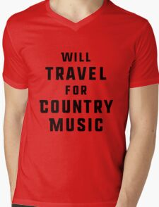 Will Travel For Country Music Mens V-Neck T-Shirt
