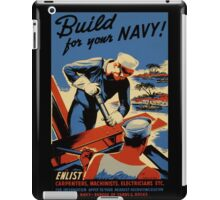 Build for Your Navy Seabees iPad Case/Skin