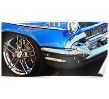 Blue Classic Car Poster