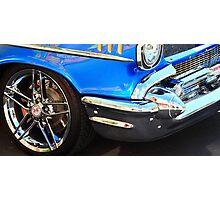 Blue Classic Car Photographic Print