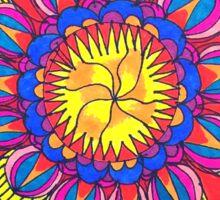 Sun Burst Mandala Sticker