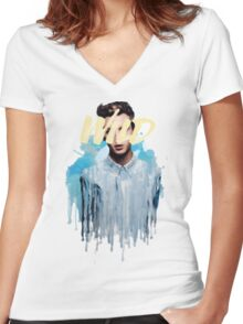 Troye Sivan Wild Blue Women's Fitted V-Neck T-Shirt