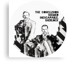 Sherlock Holmes and John Watson Sherlocked Canvas Print