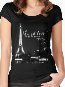 Paris- The 1975 Women's Fitted Scoop T-Shirt