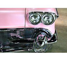 Pink Classic Car Photographic Print