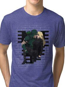 cw arrow and black canary Tri-blend T-Shirt