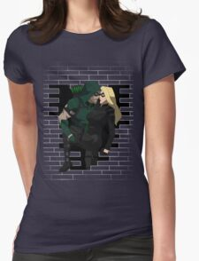 cw arrow and black canary Womens Fitted T-Shirt