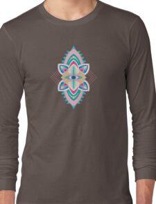 Tribal Eye Motif Long Sleeve T-Shirt