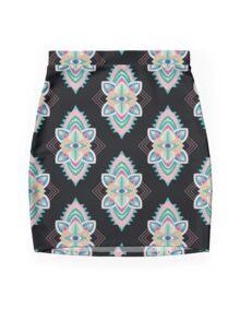 Tribal Eye Motif Mini Skirt
