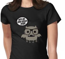 Bats are serious Womens Fitted T-Shirt