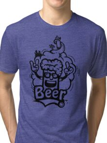 Beer Graffiti Tri-blend T-Shirt