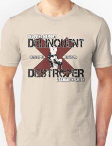 Delinquent Destroyer Tribute Shirt 1 [Square Design] T-Shirt