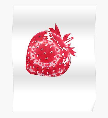 Tie Dye Strawberry Poster