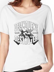 Delinquent Destroyer Tribute Shirt 2 [Round Design] Women's Relaxed Fit T-Shirt