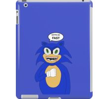 Sonic-Gotta Go Fast iPad Case/Skin