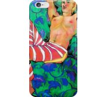 Gorgeous, decorative, blond man, half naked iPhone Case/Skin