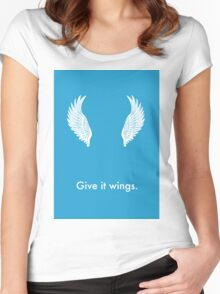 Give it Wings Women's Fitted Scoop T-Shirt