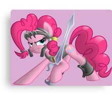 Pinkie Pie Ready for Battle Canvas Print