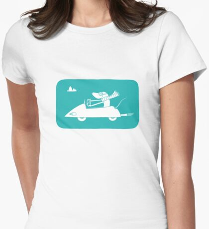 motoring mouse Womens Fitted T-Shirt