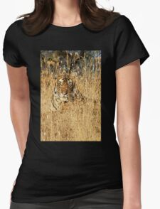 Sub-Adult Male Bengal Tiger Womens Fitted T-Shirt