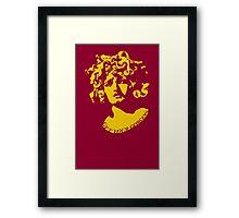 Gorgeous Gorgon (Gold) Framed Print