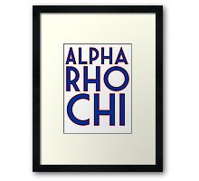 Alpha Rho Chi Framed Print