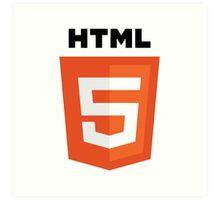 HTML5 Art Print