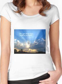 Divine Light Bursting Through Clouds Hope Women's Fitted Scoop T-Shirt