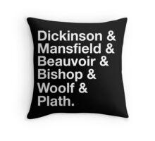 Notable female writers Throw Pillow