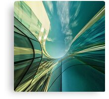 Office in the sky... Canvas Print