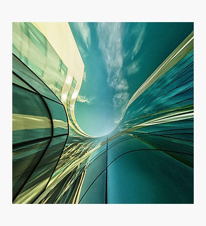 Office in the sky... Photographic Print