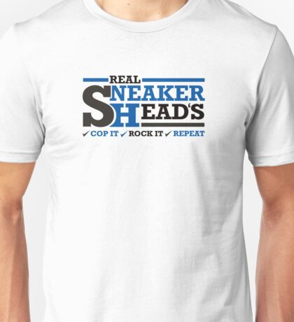 Real Sneakerheads - Blue Unisex T-Shirt