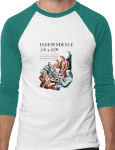 Independence July 4, 1776 Men's Baseball ¾ T-Shirt