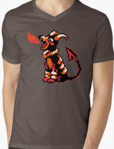 Houndoom Retro Mens V-Neck T-Shirt