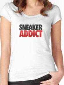 Sneaker Addict - Carbon Fiber Women's Fitted Scoop T-Shirt