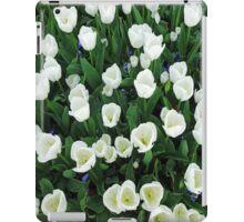Massed white Tulips. iPad Case/Skin