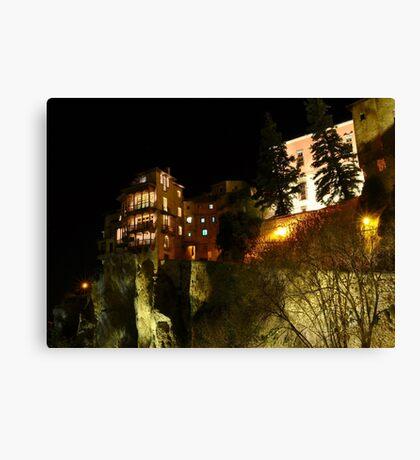 Cuenca - Casas colgadas Canvas Print