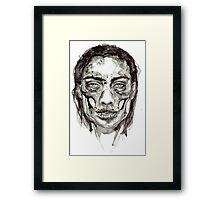 Skull Girl - Decay Framed Print