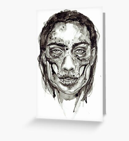 Skull Girl - Decay Greeting Card