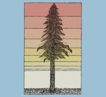 Coastal Redwood Sunset Sketch Baby Tee