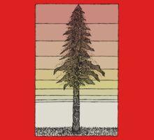 Coastal Redwood Sunset Sketch One Piece - Long Sleeve