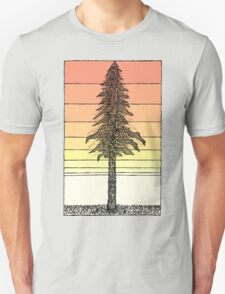 Coastal Redwood Sunset Sketch Unisex T-Shirt