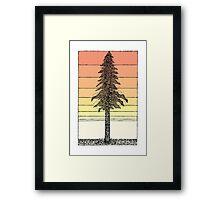 Coastal Redwood Sunset Sketch Framed Print