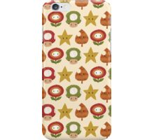 power ups pattern iPhone Case/Skin