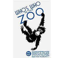 Who's Who In The Zoo -- Vintage WPA Photographic Print