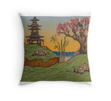 Good Morning Japan Throw Pillow