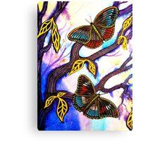 On Golden Wings - Butterflies Canvas Print