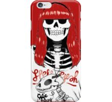 Skeleton hipster girl iPhone Case/Skin